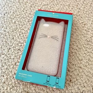 Kate Spade glitter cat iPhone case